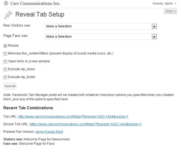 Reveal Tab Setup Utility