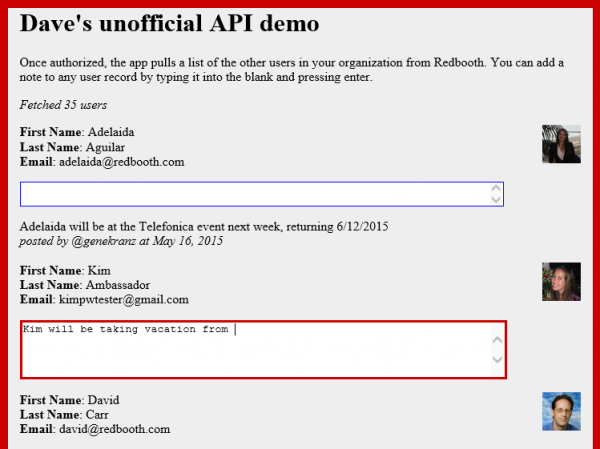 API demo